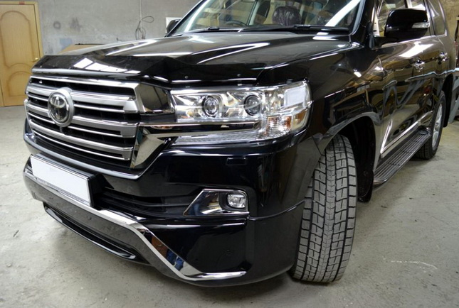 Накладки на бампер Executive Toyota Land Cruiser 200