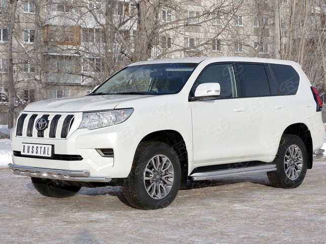 Защита переда Toyota Land Cruiser Prado 150 2018